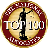 The National Top 100 Advocates Logo Linked to Website