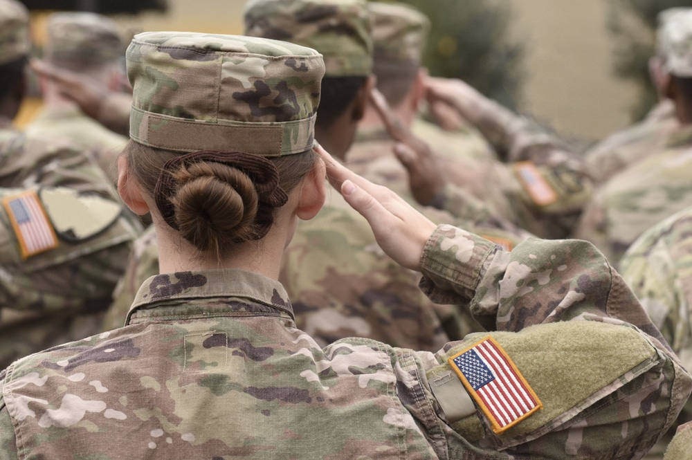 American,Soldiers,Salute.,Us,Army.,Military,Forces,Of,The,United